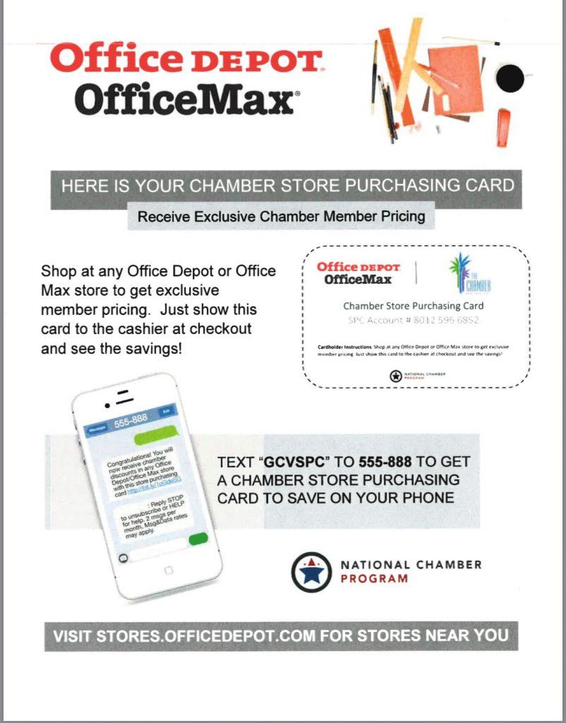 Office Depot Chamber Rewards Program – Greater Coachella